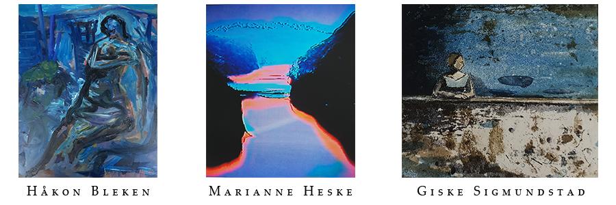 Håkon Bleken - Giske Sigmundstad - Marianne Heske - collage