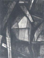 Bjarne Røtterud - Gamle hus - 1972 - Tusjlavering