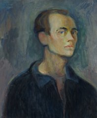 Bjarne Røtterud - Selvportrett - 1955 - Maleri