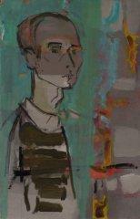 Bjarne Røtterud - Selvportrett - 1968 - Maleri