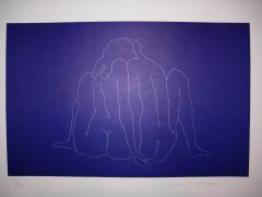 Knut Steen - To - litografi
