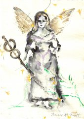 Therese Nortvedt - Angel III - monotypi