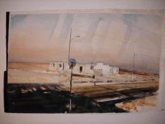 Lars Lerin - Ökenresa - akvarell