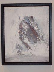 Kurt Edvin Blix Hansen - Gjensyn - akryl på lerret