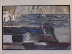 Kurt Edvin Blix Hansen - Minni fra Nuuk - akryl på lerret