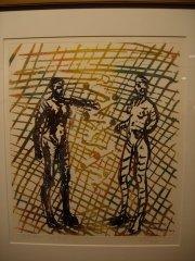 Frans Widerberg - To - litografi