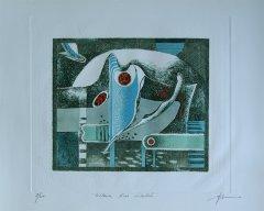 Ajit D - Komposisjon III - litografi