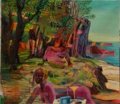 Peter Esdaile - Almost lived - akryl på lerret