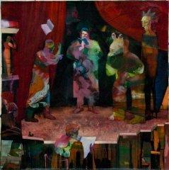Peter Esdaile - Rehearsal - akryl på lerret