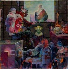 Peter Esdaile - The Mystics - akryl på lerret