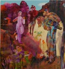 Peter Esdaile - The Parabell - akryl på lerret