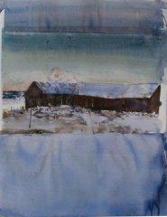 Lars Lerin - V - akvarell