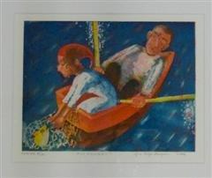 Gro Hege Bergan - Fin fangst - litografi