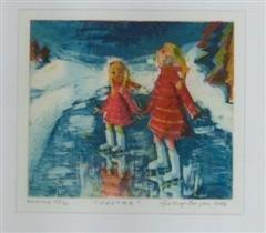 Gro Hege Bergan - Søstre - litografi