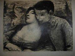 Kaare Espolin Johnson - Kjærlighet - litografi