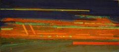 Magne Rygh - Mean street II - Acryl på lerret