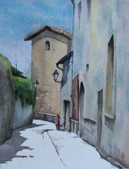 Ajit D - Fransk - Akvarell