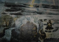 Kaare Espolin Johnson - Grenselandet - litografi
