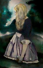 Therese Nortvedt - The secret - Olje på lerret