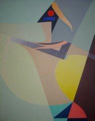 Bjarne Røtterud - Rød horisont - Acryl på lerret - 100x80cm - kr. 28 000