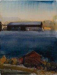 Lars Lerin - II - akvarell
