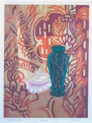 Hilde Vemren - Lyttende - litografi